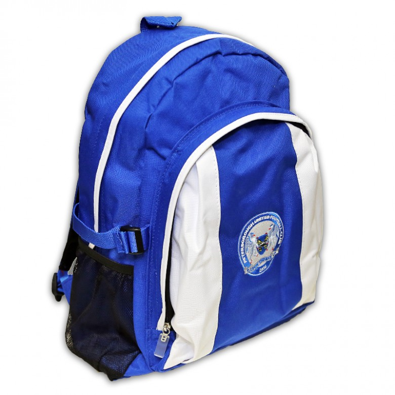Blue and White Rucksack