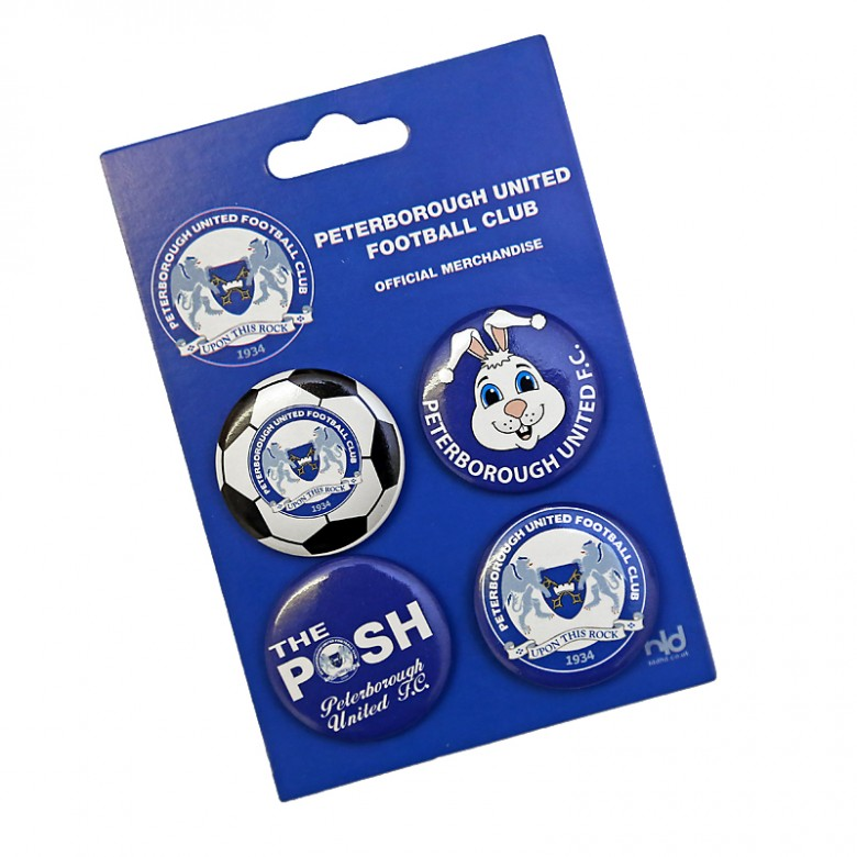 Button Badges 4 Pack