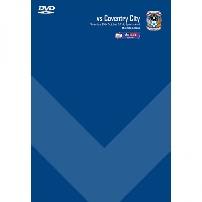 DVD Coventry City (A, 25/10/14)